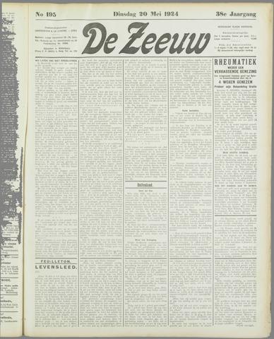 De Zeeuw. Christelijk-historisch nieuwsblad voor Zeeland 1924-05-20