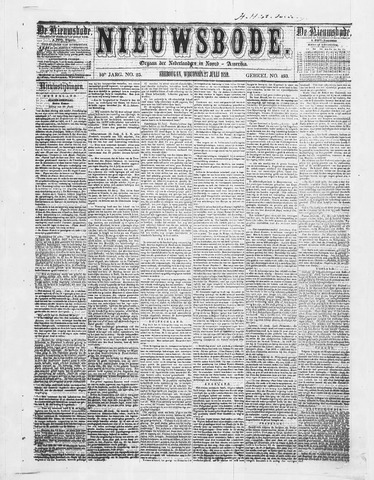 Sheboygan Nieuwsbode 1859-07-27
