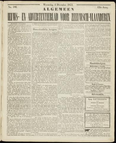Ter Neuzensche Courant. Algemeen Nieuws- en Advertentieblad voor Zeeuwsch-Vlaanderen / Neuzensche Courant ... (idem) / (Algemeen) nieuws en advertentieblad voor Zeeuwsch-Vlaanderen 1872-12-04