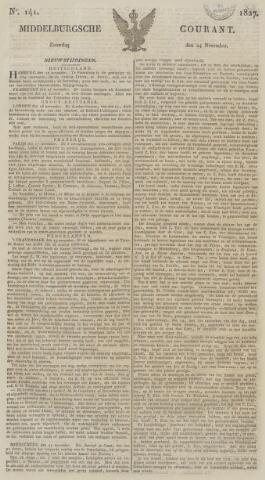 Middelburgsche Courant 1827-11-24