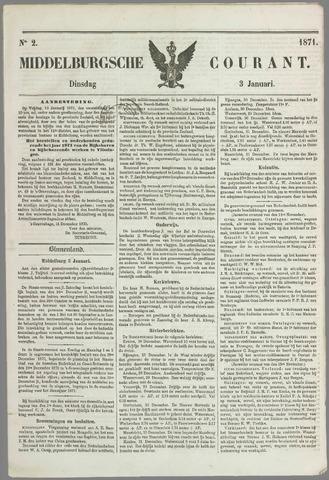 Middelburgsche Courant 1871-01-03