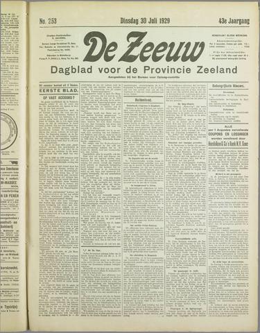 De Zeeuw. Christelijk-historisch nieuwsblad voor Zeeland 1929-07-30