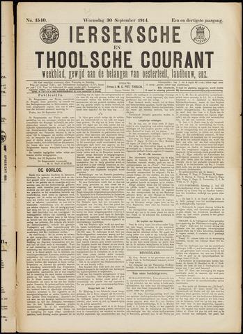 Ierseksche en Thoolsche Courant 1914-09-30