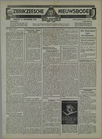 Zierikzeesche Nieuwsbode 1941-10-18