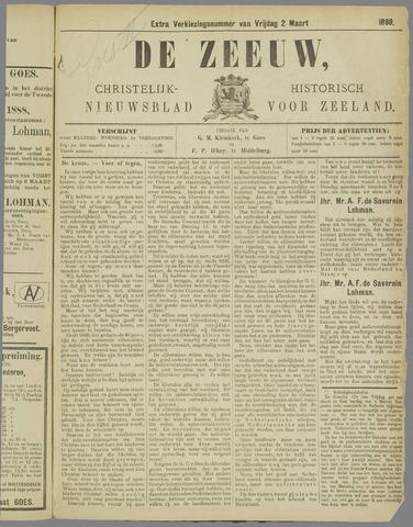 De Zeeuw. Christelijk-historisch nieuwsblad voor Zeeland 1888-03-02