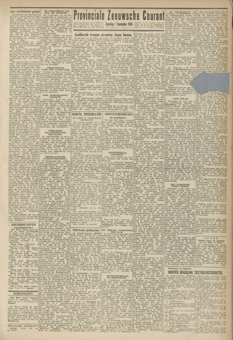 Provinciale Zeeuwse Courant 1945-09-01