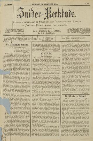 Zuider Kerkbode, Weekblad gewijd aan de belangen der gereformeerde kerken in Zeeland, Noord-Brabant en Limburg. 1899-12-29