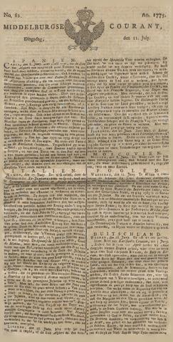 Middelburgsche Courant 1775-07-11
