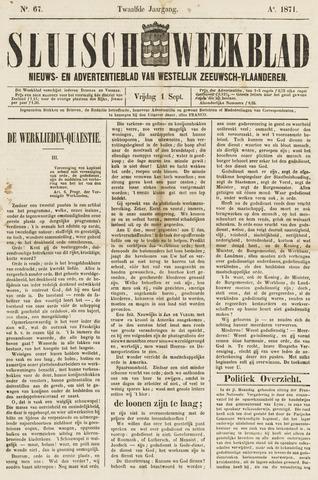 Sluisch Weekblad. Nieuws- en advertentieblad voor Westelijk Zeeuwsch-Vlaanderen 1871-09-01
