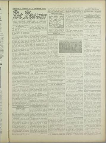 De Zeeuw. Christelijk-historisch nieuwsblad voor Zeeland 1943-02-15