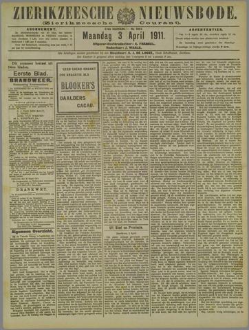 Zierikzeesche Nieuwsbode 1911-04-03