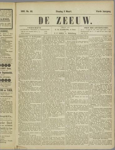 De Zeeuw. Christelijk-historisch nieuwsblad voor Zeeland 1890-03-11