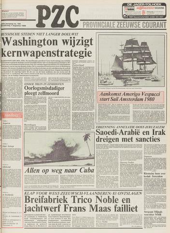 Provinciale Zeeuwse Courant 1980-08-07