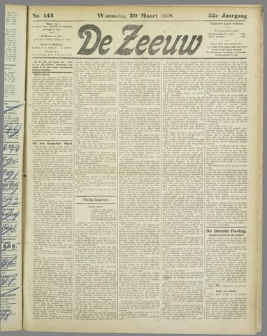 De Zeeuw. Christelijk-historisch nieuwsblad voor Zeeland 1918-03-20