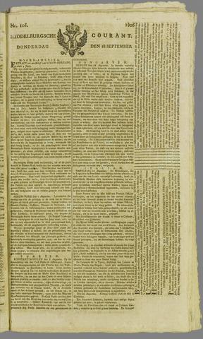 Middelburgsche Courant 1806-09-18