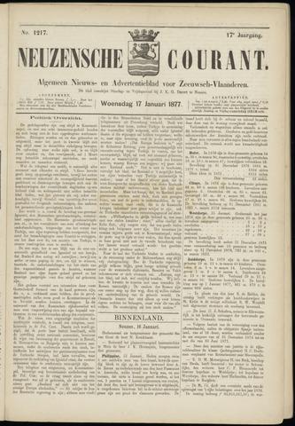 Ter Neuzensche Courant. Algemeen Nieuws- en Advertentieblad voor Zeeuwsch-Vlaanderen / Neuzensche Courant ... (idem) / (Algemeen) nieuws en advertentieblad voor Zeeuwsch-Vlaanderen 1877-01-17