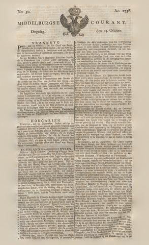 Middelburgsche Courant 1758-10-24