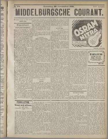 Middelburgsche Courant 1921-11-26