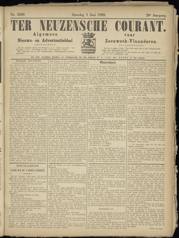 Ter Neuzensche Courant. Algemeen Nieuws- en Advertentieblad voor Zeeuwsch-Vlaanderen / Neuzensche Courant ... (idem) / (Algemeen) nieuws en advertentieblad voor Zeeuwsch-Vlaanderen 1889-06-01