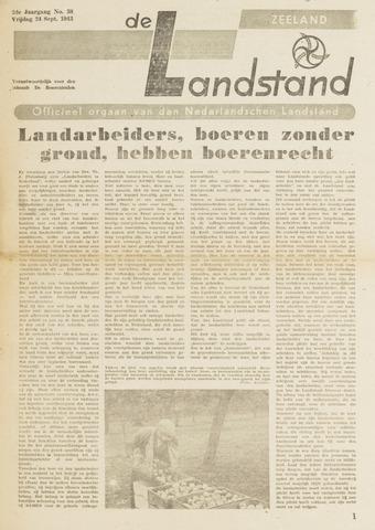 De landstand in Zeeland, geïllustreerd weekblad. 1943-09-24