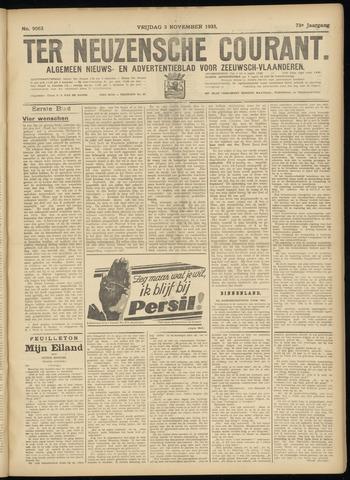 Ter Neuzensche Courant. Algemeen Nieuws- en Advertentieblad voor Zeeuwsch-Vlaanderen / Neuzensche Courant ... (idem) / (Algemeen) nieuws en advertentieblad voor Zeeuwsch-Vlaanderen 1933-11-03