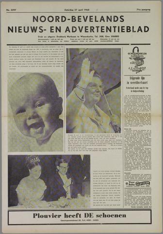 Noord-Bevelands Nieuws- en advertentieblad 1968-04-27
