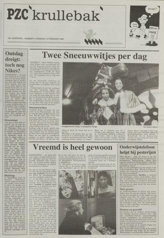 Provinciale Zeeuwse Courant katern Krullenbak (1981-1999) 1996-02-13