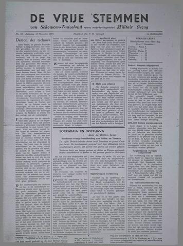 Vrije Stemmen van Schouwen-Duiveland, tevens mededeelingenblad Militair Gezag 1945-11-10