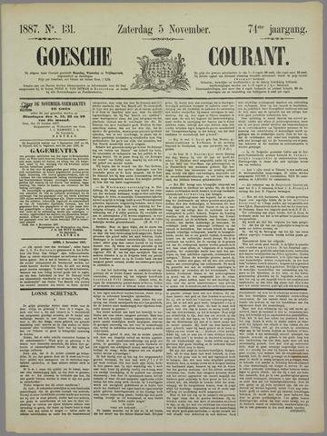 Goessche Courant 1887-11-05