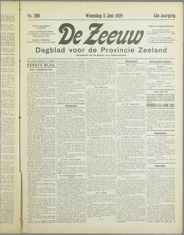 De Zeeuw. Christelijk-historisch nieuwsblad voor Zeeland 1929-06-05