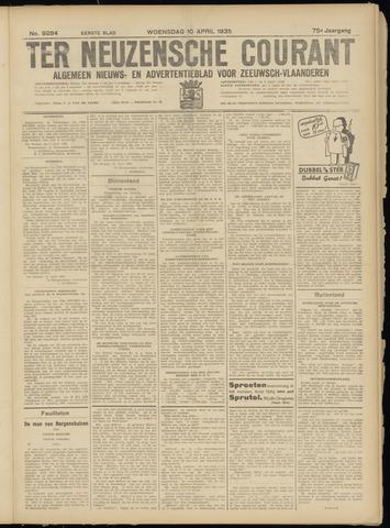 Ter Neuzensche Courant. Algemeen Nieuws- en Advertentieblad voor Zeeuwsch-Vlaanderen / Neuzensche Courant ... (idem) / (Algemeen) nieuws en advertentieblad voor Zeeuwsch-Vlaanderen 1935-04-10