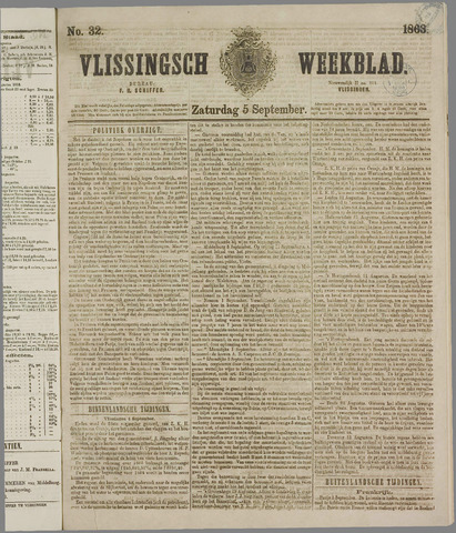 Vlissings Weekblad 1863-09-05
