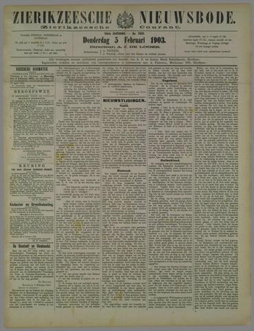 Zierikzeesche Nieuwsbode 1903-02-05