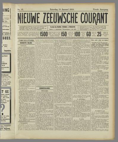 Nieuwe Zeeuwsche Courant 1914-01-24