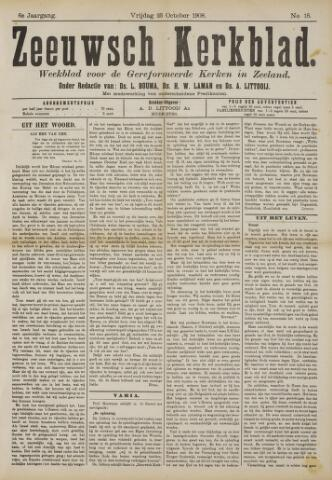 Zeeuwsche kerkbode, weekblad gewijd aan de belangen der gereformeerde kerken/ Zeeuwsch kerkblad 1908-10-23