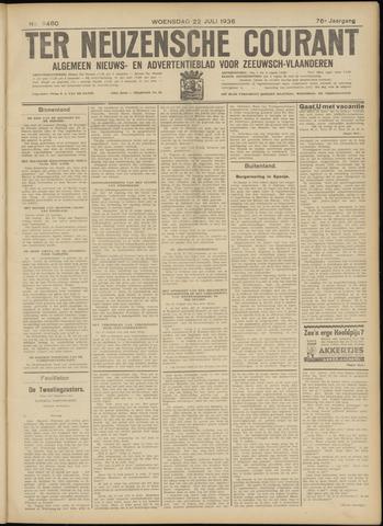 Ter Neuzensche Courant. Algemeen Nieuws- en Advertentieblad voor Zeeuwsch-Vlaanderen / Neuzensche Courant ... (idem) / (Algemeen) nieuws en advertentieblad voor Zeeuwsch-Vlaanderen 1936-07-22