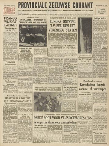 Provinciale Zeeuwse Courant 1962-07-11