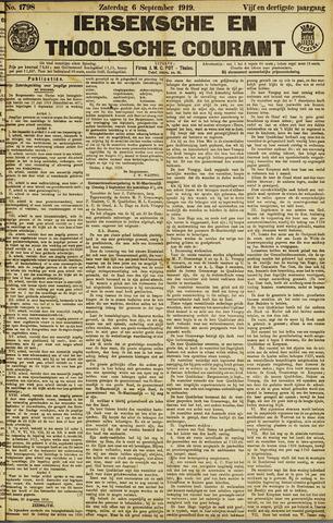 Ierseksche en Thoolsche Courant 1919-09-06