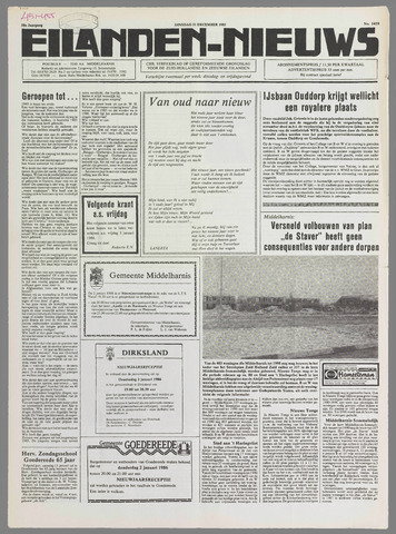 Eilanden-nieuws. Christelijk streekblad op gereformeerde grondslag 1985-12-31