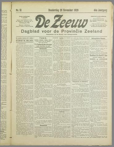 De Zeeuw. Christelijk-historisch nieuwsblad voor Zeeland 1929-11-28