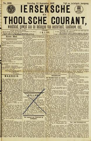 Ierseksche en Thoolsche Courant 1907-09-14