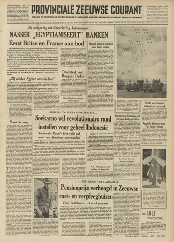 Provinciale Zeeuwse Courant 1957-01-16