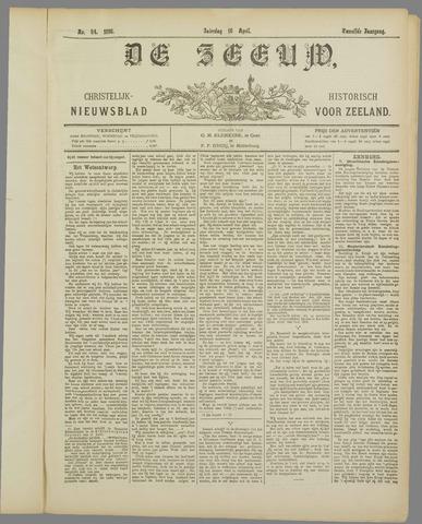 De Zeeuw. Christelijk-historisch nieuwsblad voor Zeeland 1898-04-16