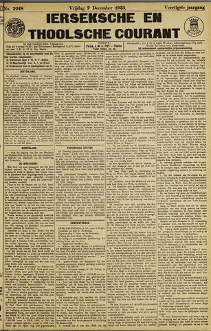 Ierseksche en Thoolsche Courant 1923-12-07