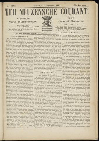 Ter Neuzensche Courant. Algemeen Nieuws- en Advertentieblad voor Zeeuwsch-Vlaanderen / Neuzensche Courant ... (idem) / (Algemeen) nieuws en advertentieblad voor Zeeuwsch-Vlaanderen 1880-11-10
