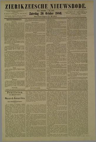 Zierikzeesche Nieuwsbode 1889-10-26