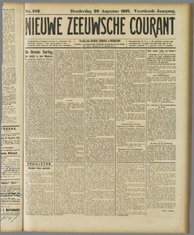 Nieuwe Zeeuwsche Courant 1918-08-29