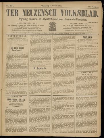 Ter Neuzensch Volksblad. Vrijzinnig nieuws- en advertentieblad voor Zeeuwsch- Vlaanderen / Zeeuwsch Nieuwsblad. Nieuws- en advertentieblad voor Zeeland 1914-01-07