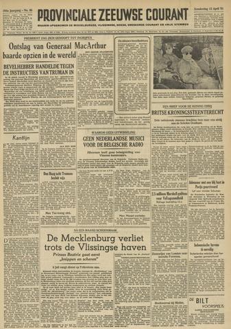 Provinciale Zeeuwse Courant 1951-04-12
