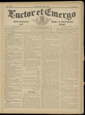 Luctor et Emergo. Antirevolutionair nieuws- en advertentieblad voor Zeeland / Zeeuwsch-Vlaanderen. Orgaan ter verspreiding van de christelijke beginselen in Zeeuwsch-Vlaanderen 1917-05-09